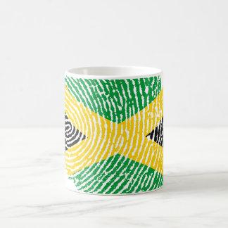 Jamaican touch fingerprint flag coffee mug