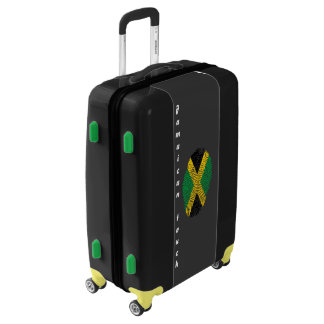 Jamaican touch fingerprint flag luggage