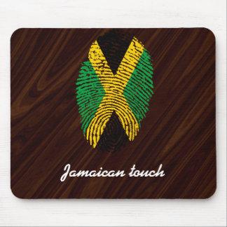 Jamaican touch fingerprint flag mouse pad