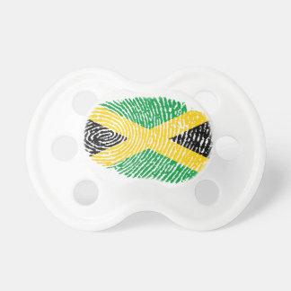 Jamaican touch fingerprint flag pacifier