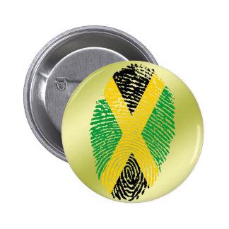 Jamaican touch fingerprint flag pinback button