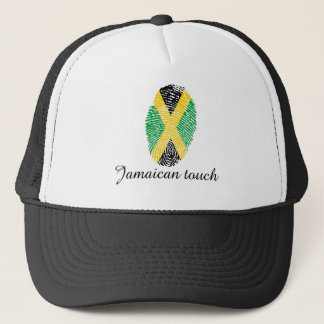Jamaican touch fingerprint flag trucker hat
