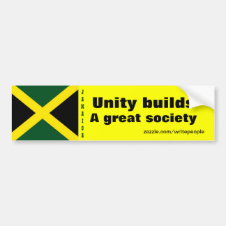 Jamaican  unity bumper stickers