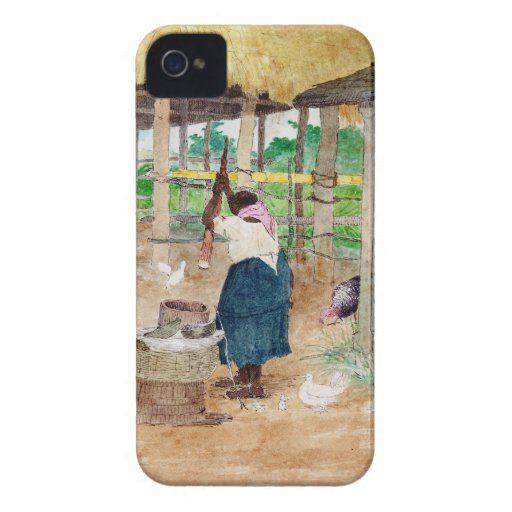 Jamaican Woman Beating Cassava on Farm Case-Mate iPhone 4 Cases
