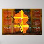 Jamaican Yellow Orchid 2012 Calendar Poster