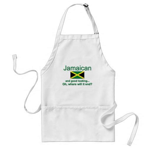 Jamaicano apuesto delantales