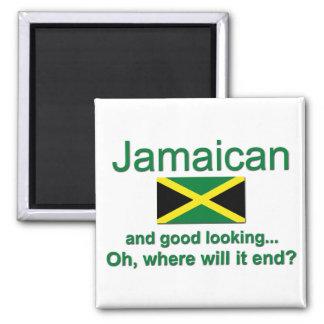 Jamaicano apuesto imán cuadrado