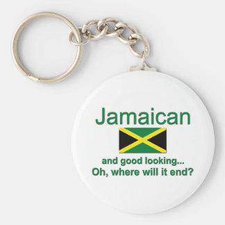 Jamaicano apuesto llaveros personalizados
