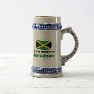 Jamaicano feliz casada taza
