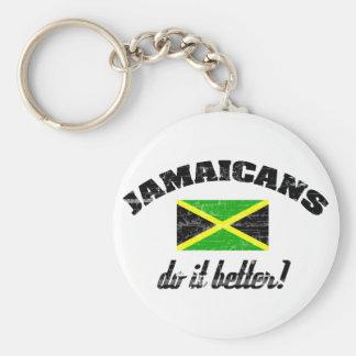 Jamaicano mejora llavero redondo tipo pin