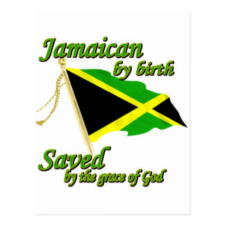 Jamaicano por el nacimiento ahorrado por la gracia tarjetas postales