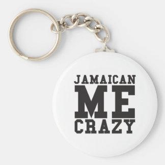 Jamaicano yo loco llavero redondo tipo pin