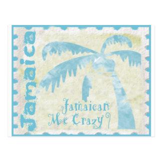 Jamaicano yo loco tarjeta postal