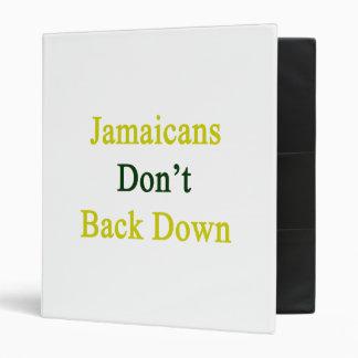 Jamaicans Don't Back Down Binder