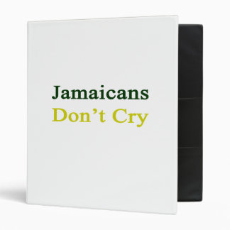 Jamaicans Don't Cry 3 Ring Binder