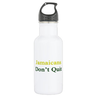 Jamaicans Don't Quit. 18oz Water Bottle