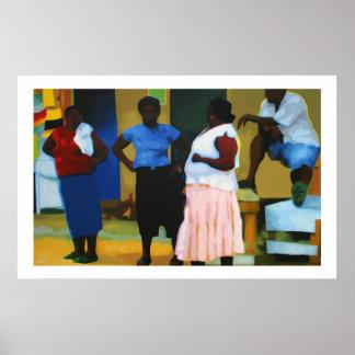 Jamaicans en Negril Posters