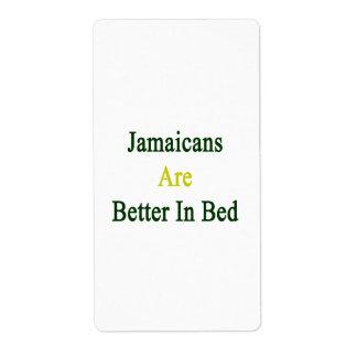 Jamaicans es mejor en cama etiquetas de envío