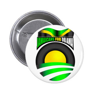 Jamaicans for Obama Button