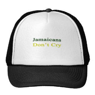 Jamaicans no llora gorros bordados
