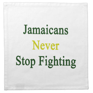 Jamaicans nunca para el luchar servilleta de papel