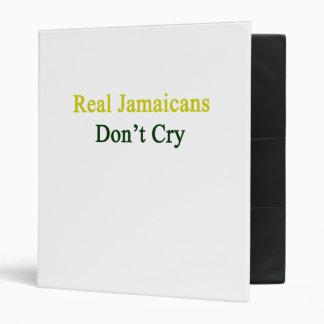Jamaicans real no llora carpeta 2,5 cm