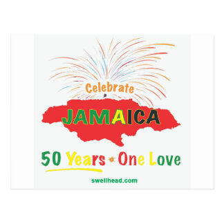 Jamaica's 50th Anniversary by Roxanne/Swellhead Postcard