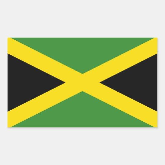 Jamaica's Flag Rectangular Sticker