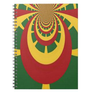 Jamaicas RETROS FRESCOS Rastas del vintage de Haku Notebook