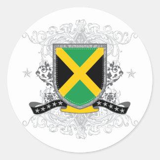 jamaicashield2 pegatina redonda