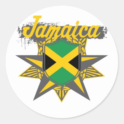 jamaicastar classic round sticker
