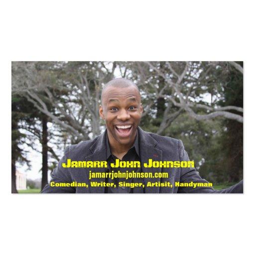 Jamarr John Johnson Business Card Templates