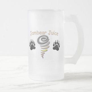 Jambear Juice 16 Oz Frosted Glass Beer Mug