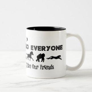 Jambo cada uno ayuda ahorrar animales en peligro taza de café