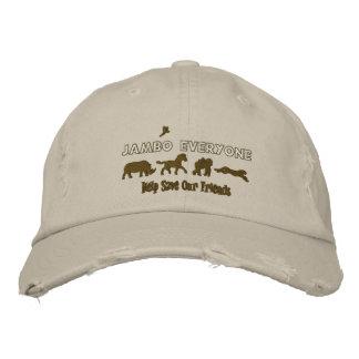 Jambo Everyone Help save endangered animals Embroidered Baseball Cap