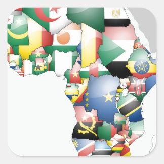 Jambo Habari Africa Beautiful Hello Mama Africa Square Sticker
