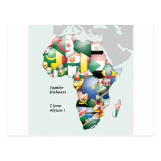 Jambo Habari Africa ! I Love Africa Postcard