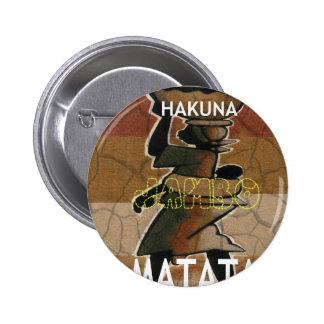 Jambo Habari Hakuna Matata. 2 Inch Round Button