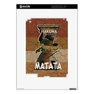 Jambo Habari Hakuna Matata. Decals For iPad 2
