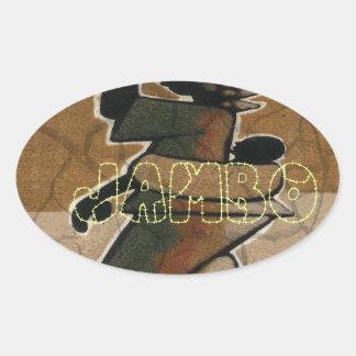Jambo Habari Hakuna Matata. Oval Sticker