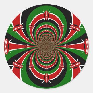 Jambo Habari ! Kenya Hakuna Matata Classic Round Sticker