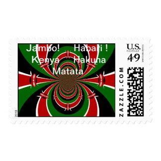 Jambo! Habari! Kenya Hakuna Matata Stamp