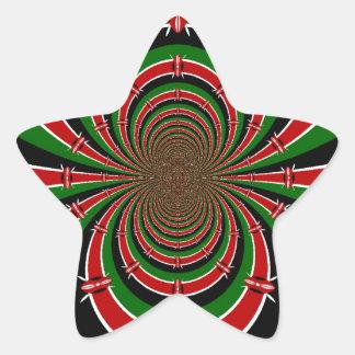 Jambo Habari ! Kenya Hakuna Matata Star Sticker