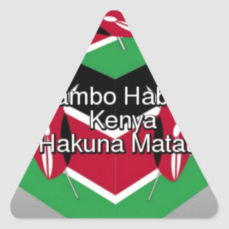 Jambo Habari ! Kenya Hakuna Matata Triangle Sticker