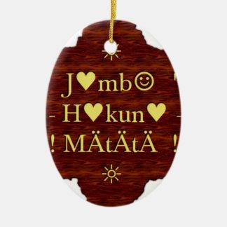 jambo Hakuna Matata day Gifts.png Ceramic Ornament