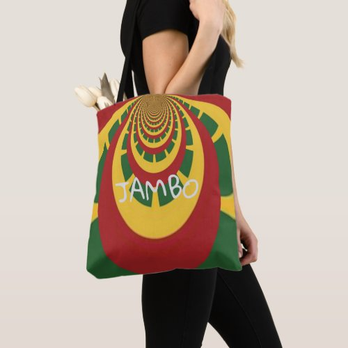 Jambo Hakuna Matata Jamaica Rasta Colors Shoulder Tote Bag