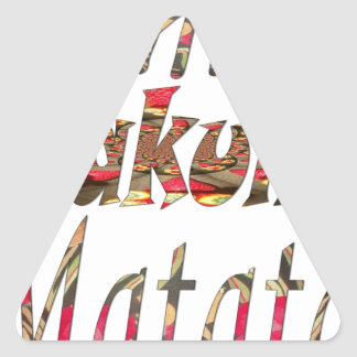 Jambo ! Hakuna Matata Triangle Sticker