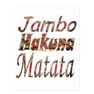 ¡Jambo! Hakuna Matata Tarjeta Postal