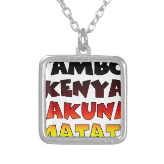 Jambo Kenia Hakuna Matata Colgante Cuadrado