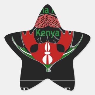 Jambo Kenia Pegatina En Forma De Estrella